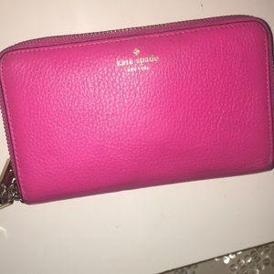 Hot Pink Kate Spade Wallet Wristlet